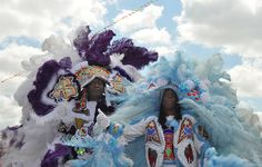 Mardi Gras Indians in New Orleans. (Photos from flickr, courtesy of GreenElent)