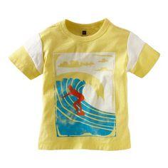 Cute print, bright colors. I love this shirt for my little boy. #TeaSummer