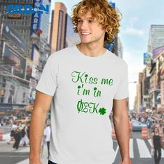St. Paddys Day Fraternity Tee $15.95 #fraternity #clothing #Irish #Greek #KissMe