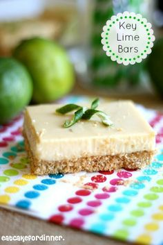 Key Lime Bars with a Brown Sugar Animal Cracker Crust - these are the best key lime bars I have ever eaten on eatcakefordinner.blogspot.com