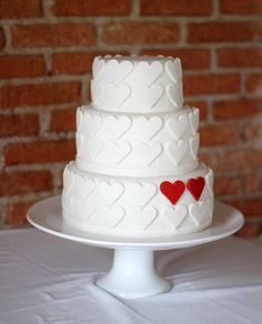 two hearts cake - perfect for engagement, anniversary or wedding. valentine wedding, valentine day, valentine cake, two hearts, queen of hearts, simple weddings, wedding cakes, accent colors, bridal shower cakes