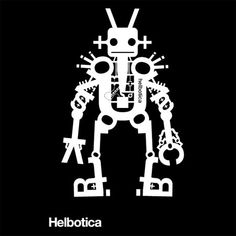 graphic design, robots, helbotica, art, poster