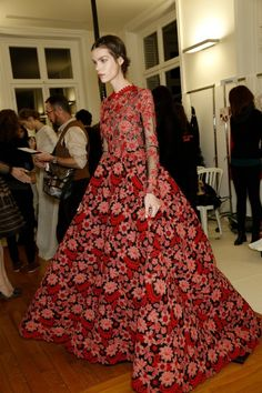 Lots of #Russian and #folk inspiration in Valentino 2014