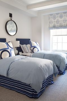 Double beds in the guest room #BLUE