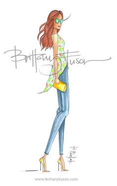 Angie [ www.brittanyfuson.com ] fashion illustration