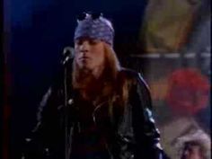 "Sweet Child O' Mine - My favorite Guns N Roses song.  And a great video for watching the famous ""snake"" dance."