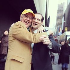 Dont they just look so happy? // #Baylor President Ken Starr and head mens basketball coach Scott Drew on the streets of NYC before the Bears NIT semifinals win. (via @bayloruniversity on Instagram)