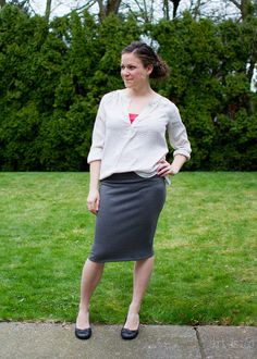Skirt as Top // Ruched maternity skirt as postpartum wear!