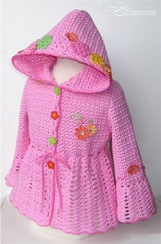 crochet babi, crochet girls jacket, jackets, babi cloth, knit