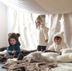 How adorable are these faux fur Baby Animal Hoods - the perfect way to get cozy when the temperatures start to drop #rhbabyandchild #fallinlove lux faux, faux fur, restoration hardware, furs, hardwar babi, anim hood, baby animals, animal babies, kid