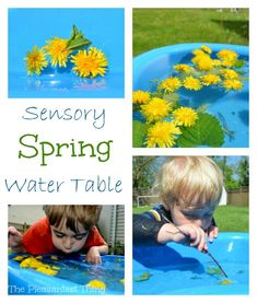 Sensory Spring Water Table from The Pleasantest Thing