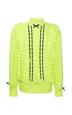 Neon Textured Ribbon Jumper by Christopher Kane for Preorder on Moda Operandi