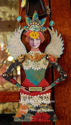"""An altered doll titled """"Guardian of the Imagination"""" by MJ Chadbourne/Desert Dream Studios 2013"""