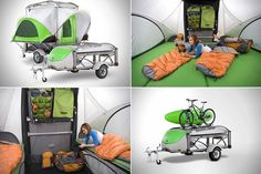 Go Camper Trailer from Sylvansport... can even be towed by small cars like the mini coopers