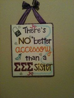 @Cindy Harms Sigma Sigma National Sorority AZ Big sis/little sis gift. Took favorite banner and replicated it onto a smaller canvas!
