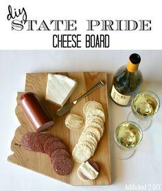 DIY State Pride Cheese Board - Addicted2DIY