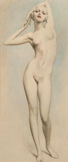 seems like a Louis Icart but i not found it…. probably 1925-30  Old Erotic Art