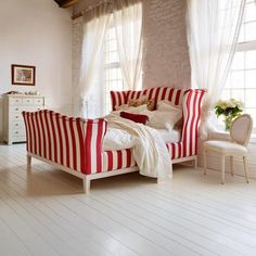 Churchill Stripes bed from 'and so to bed'.