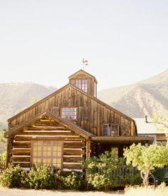 Beautiful Barn-Style Log Home