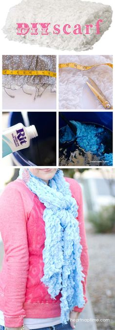 Check out this DIY scarf on iheartnaptime.com ...super easy and CUTE!