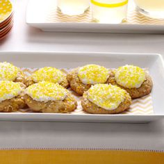 Frosted Pineapple Cookies