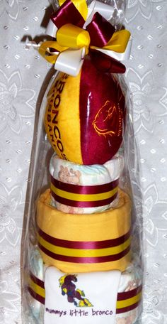... Cakes - Brisbane broncos nrl themed for a footy players baby shower