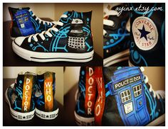 Dr Who Hi Tops. These are amazing! | I want these. NOW.