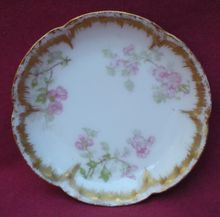 Antique Haviland Limoges Butter Pat Schleiger 29 Roses And Double Gold