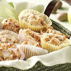 Glazed Cinnamon Apple Muffins Recipe from Taste of Home -- shared by Carol Stine of Dayton, Ohio