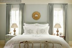 "Sherwin Williams ""Sea Salt"" paint color for the guest bedroom walls..."