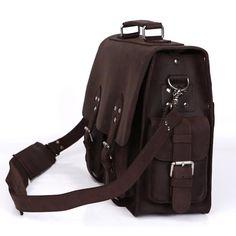 Vintage Leather Briefcase / Travel Bag / Messenger Bag