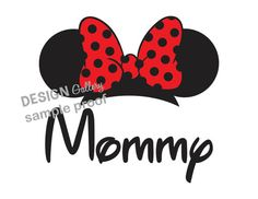Minnie Mouse Mommy Disney DIY Printable Iron On t shirt Transfer Instant Download