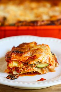 portobello and summer squash lasagna - yes please!!
