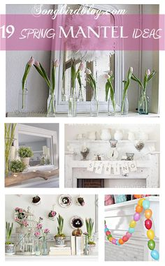 decorating mantle, fireplac, decorating ideas, mantel idea, inspir idea, easter eggs, 19 gorgeous, garland, spring mantel decor