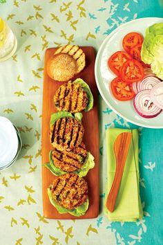 Mediterranean Veggie Burgers Recipe | Vegetarian Times