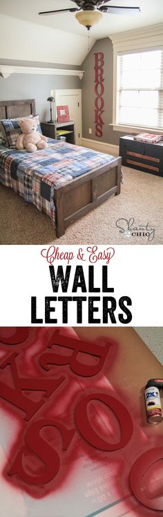 DIY Big Wood Wall Letters…. SO Cheap and Easy! LOVE these! www.shanty-2-chic.com