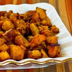 Kalyn's Kitchen®: Recipe for Roasted Butternut Squash with Rosemary and Balsamic Vinegar
