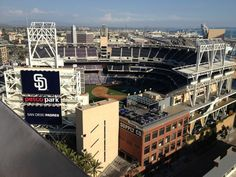 Guests love to head up to @ALTITUDESky Lounge and take in the @Padres games!