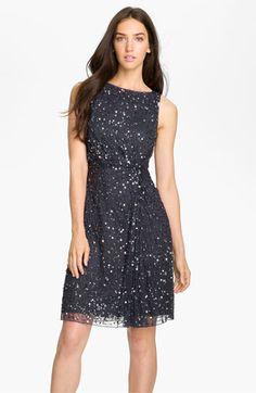 Patra Embellished Knot Front Mesh Dress available at #Nordstrom