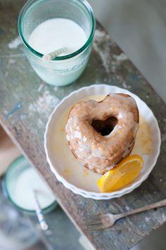Meyer Lemon Baked Doughnuts