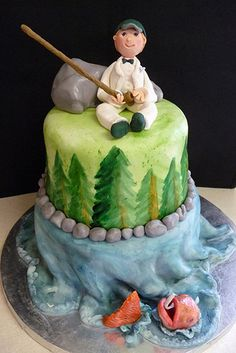 I want to do a fishing cake for the groom's cake!