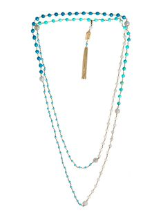 Rosarietto turq necklace ( for some reason the link won't go through to the necklace but, if you search under the name, it will come up)