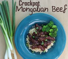 Crockpot Mongolian Beef.  This was SO SO GOOD!!  Better than the restaurant