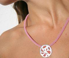 Circle Coral Orange Pendant by mehru on Etsy, $82.00