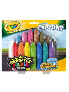 Easter Basket Ideas for Kids from WomansDay.com - Easter Basket Gifts for Kids - Woman's Day basket idea, gift ideas, rainbows, sidewalk crayons15pkg, sidewalks, rainbow colors, crayola sidewalk, kid, basket gift