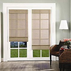 Roman shades for the french doors in my kitchen