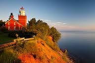 Spending a night in a lighthouse was marked off my bucket list this year. Big Bay lighthouse on lake Superior is a beautiful B&B.