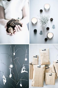 I love the kraft paper-wrapped packages! So simple and classy. Next year...