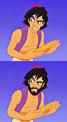 Disney's characters with beard