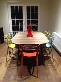 I'm loving our table and chairs!! #kartell #MatthewHilton #Heals